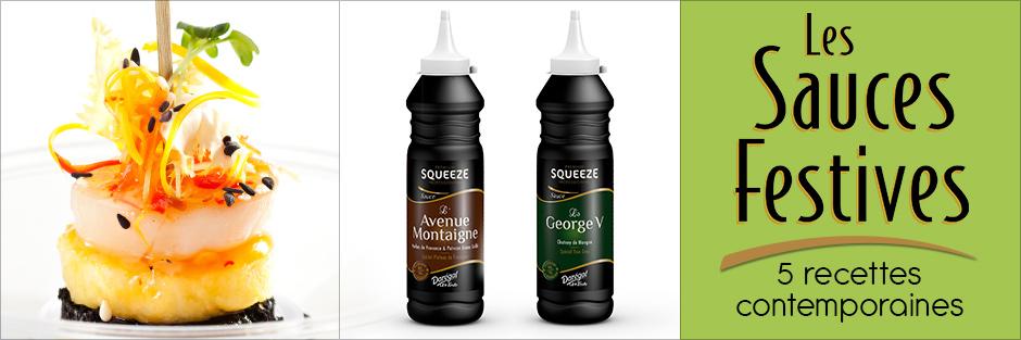 Les Sauces Festives en Squeeze Premium par Darégal